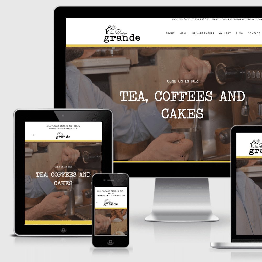 Web Designers in Northallerton build new Casa Rustica web site