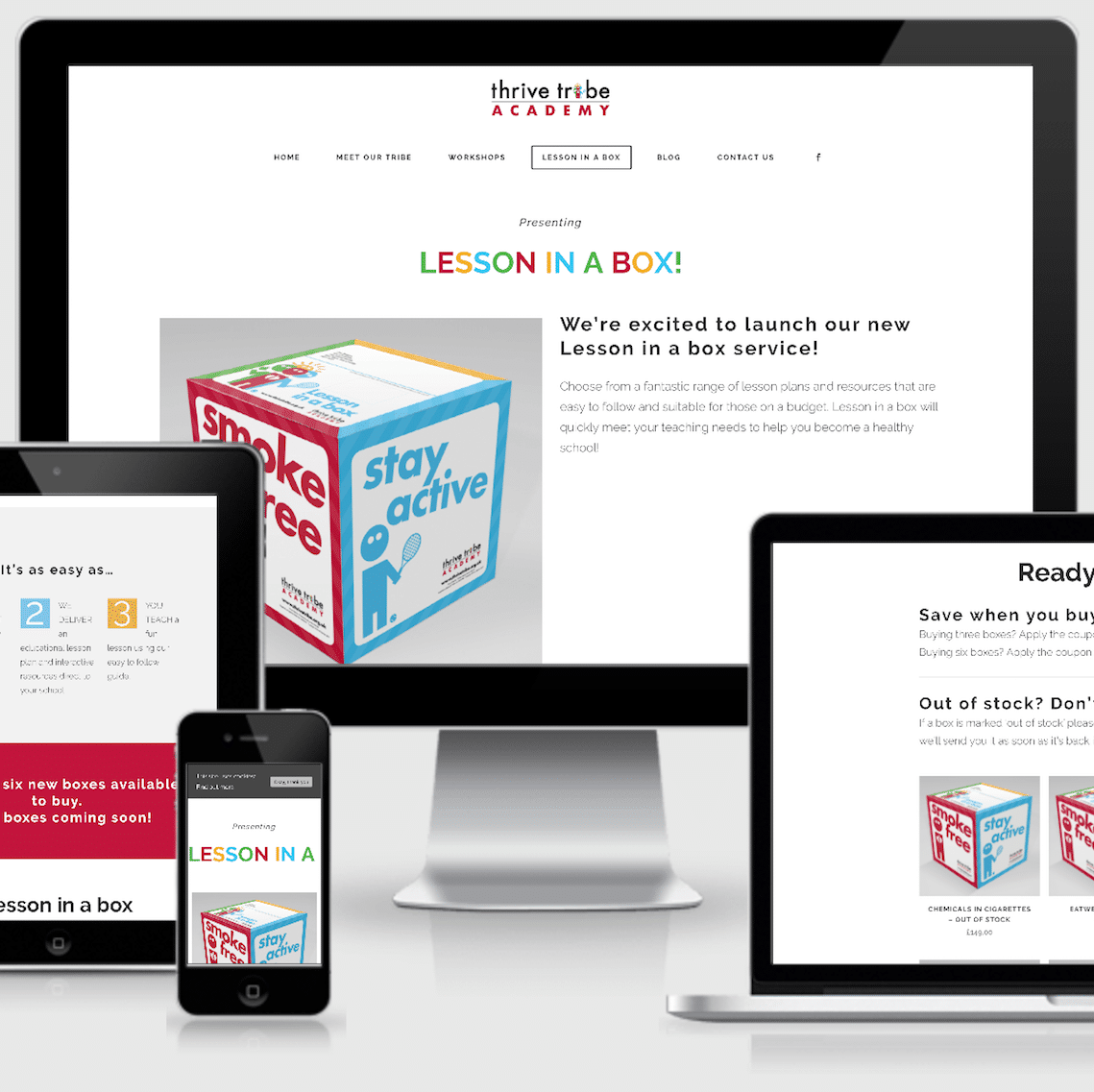 Lesson in a Box - Ecommerce Web Designers